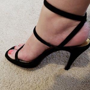 Vintage velvet Couture Donald Pliner heels